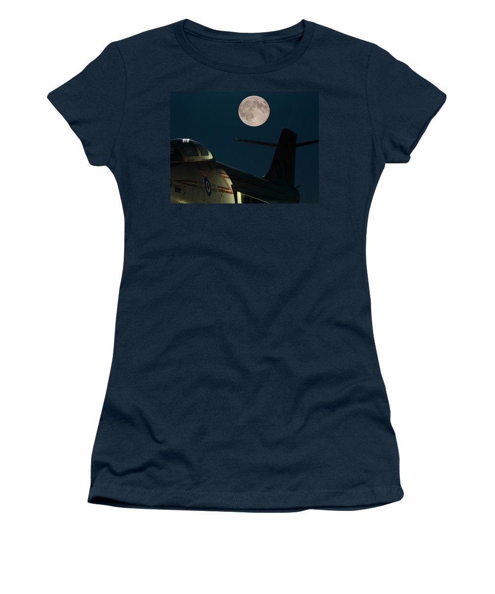 Moon Women's T-Shirt featuring the photograph Under A Voodoo Sky by Brent Davis