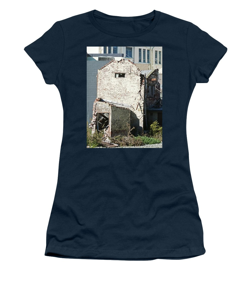 Earthquake Women's T-Shirt featuring the photograph Unzipped by Steve Taylor