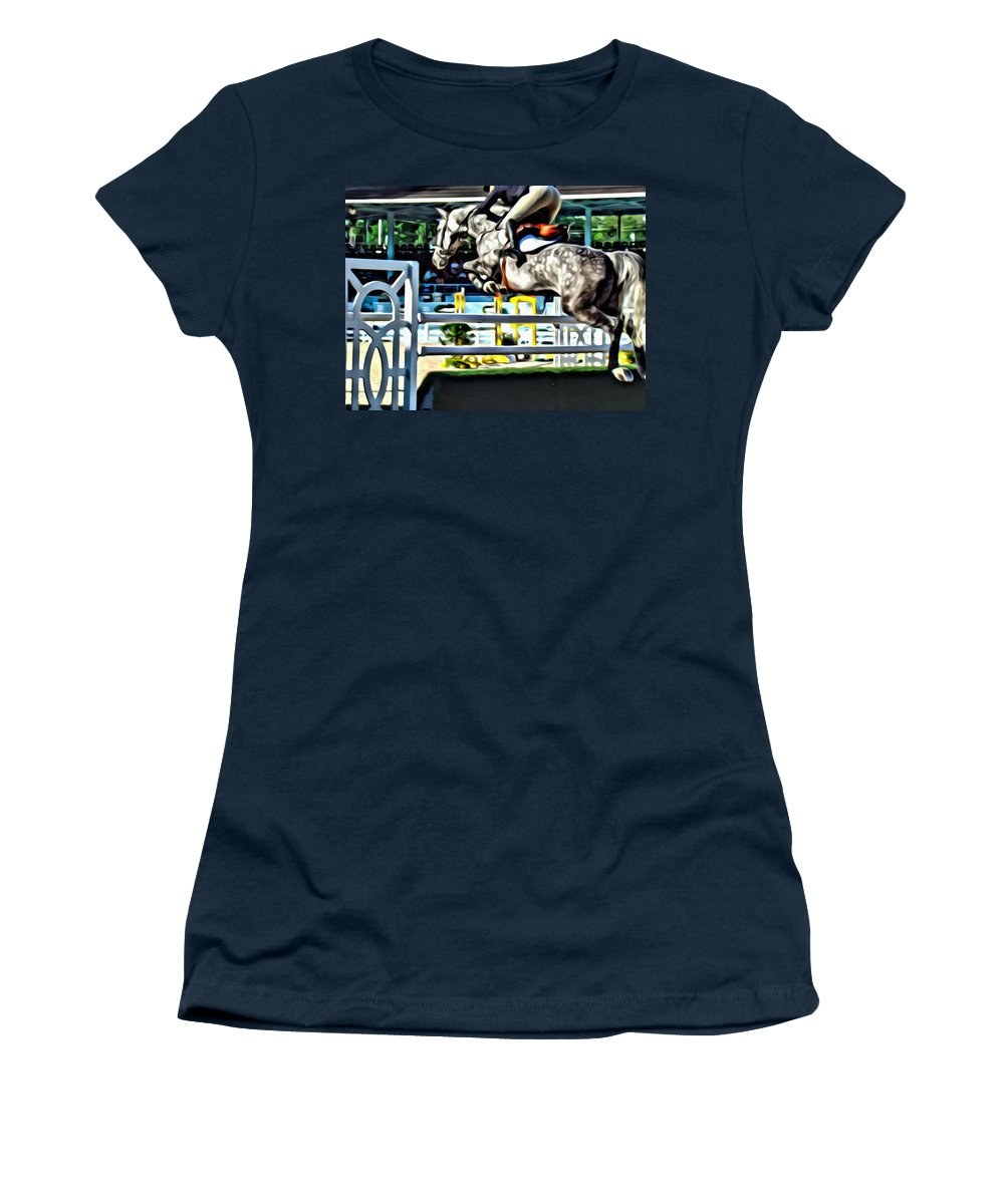 Horse Women's T-Shirt featuring the photograph Up by Alice Gipson