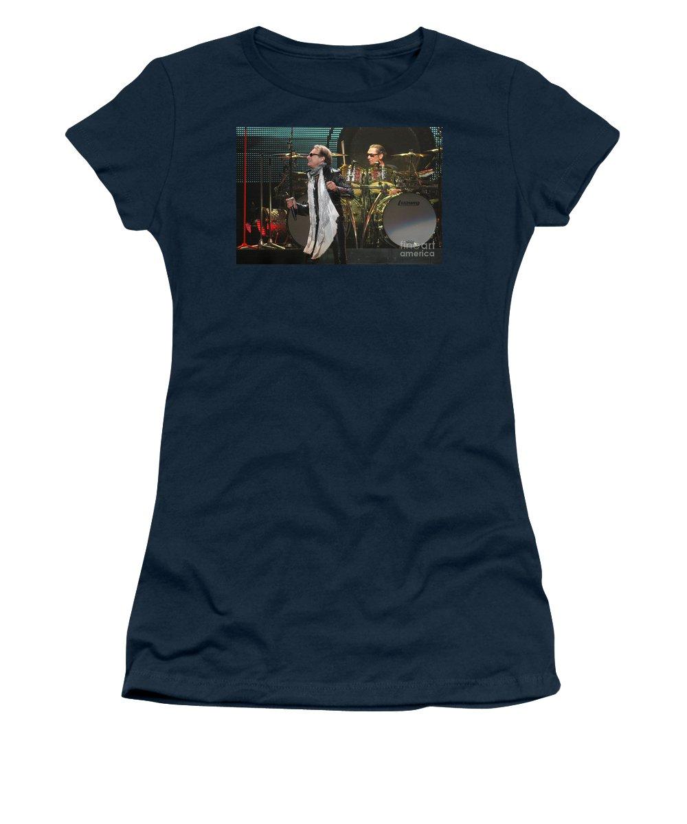 Van Halen Women's T-Shirt (Athletic Fit) featuring the photograph Van Halen-7073 by Gary Gingrich Galleries