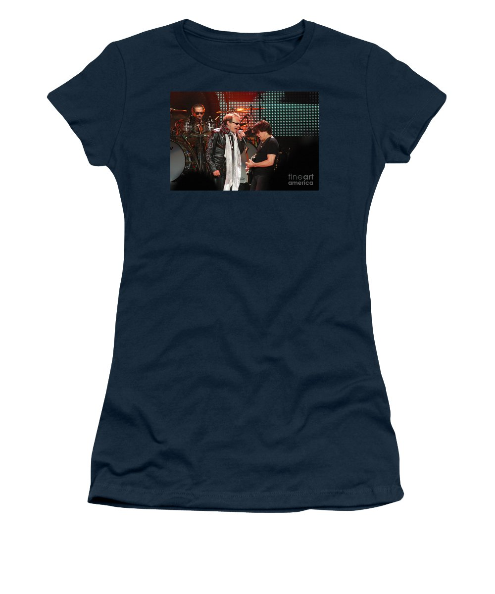 Van Halen Women's T-Shirt (Athletic Fit) featuring the photograph Van Halen-7123 by Gary Gingrich Galleries