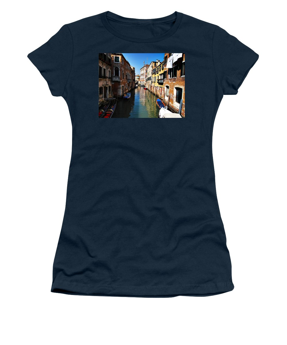 Venice Women's T-Shirt featuring the photograph Venice Canal by Bill Cannon