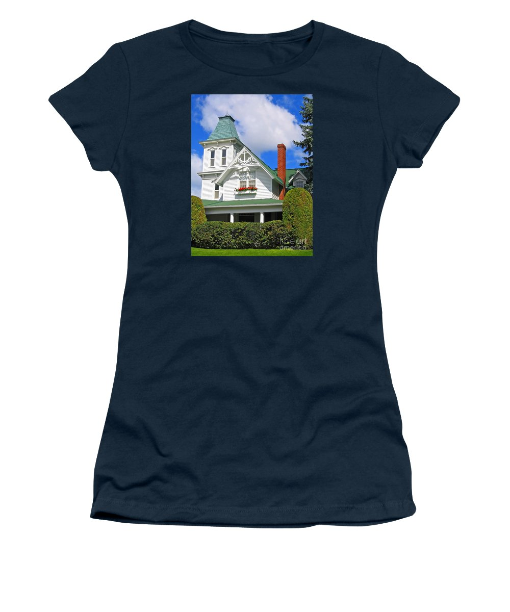 House Women's T-Shirt (Athletic Fit) featuring the photograph Vintage Victorian by Ann Horn