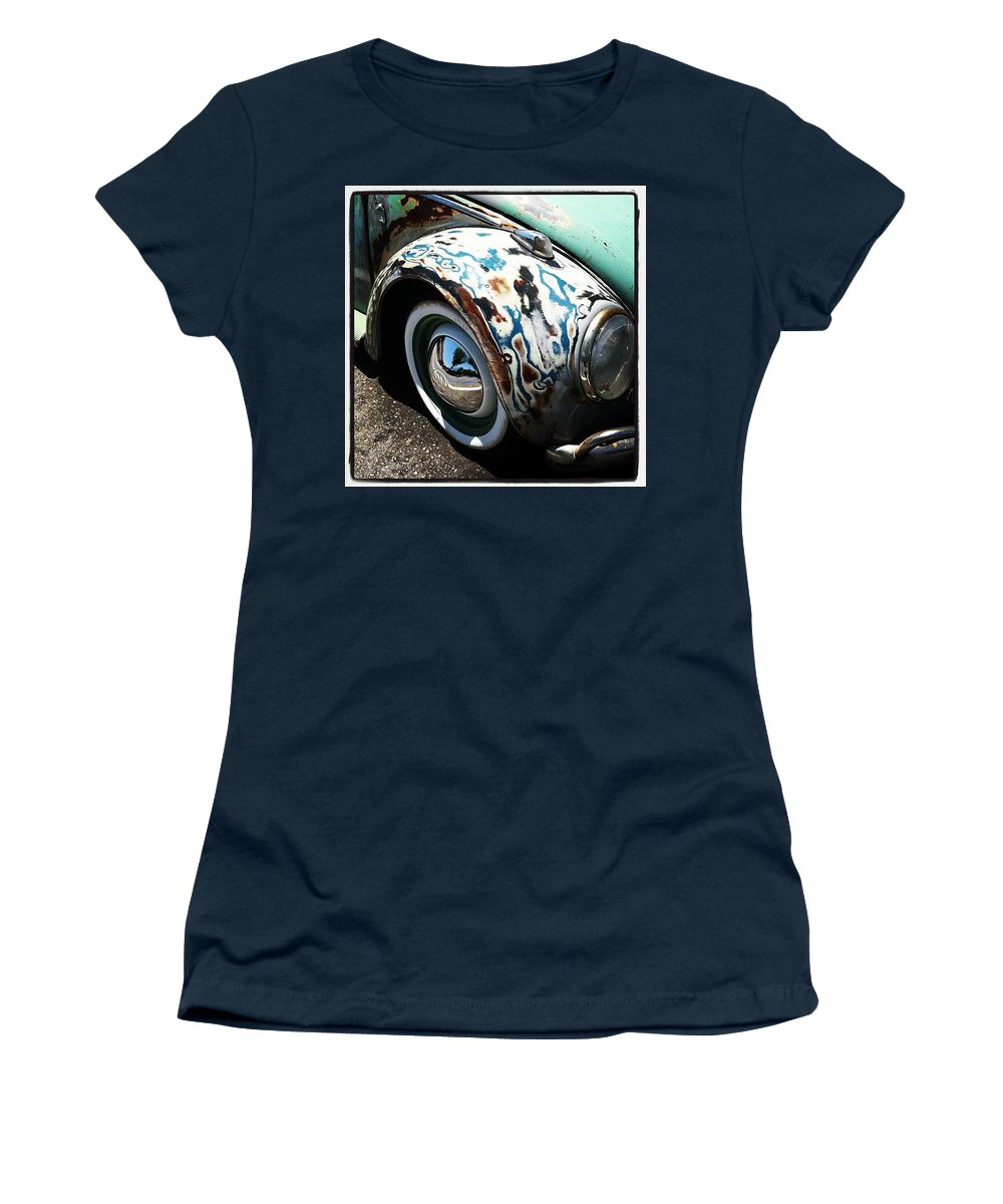 Volkswagon Women's T-Shirt featuring the photograph Vw Fender Art by Gwyn Newcombe