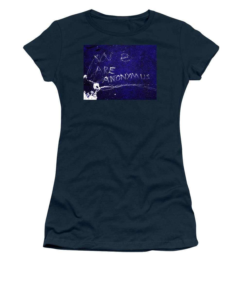 Anonymus Women's T-Shirt featuring the photograph We Are Anonymus by Steve Taylor