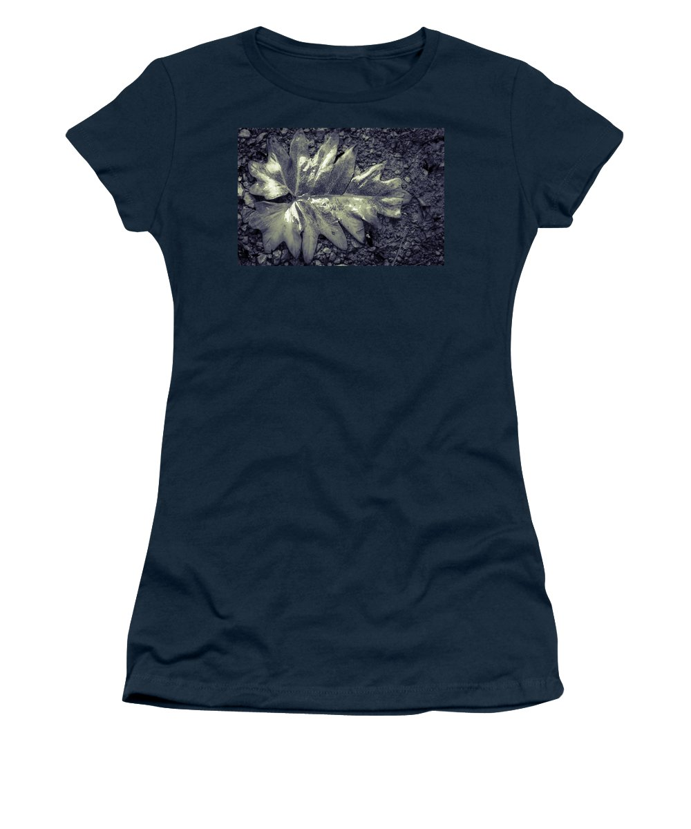Flora Women's T-Shirt featuring the photograph Wet Leaf by Gareth Burge Photography