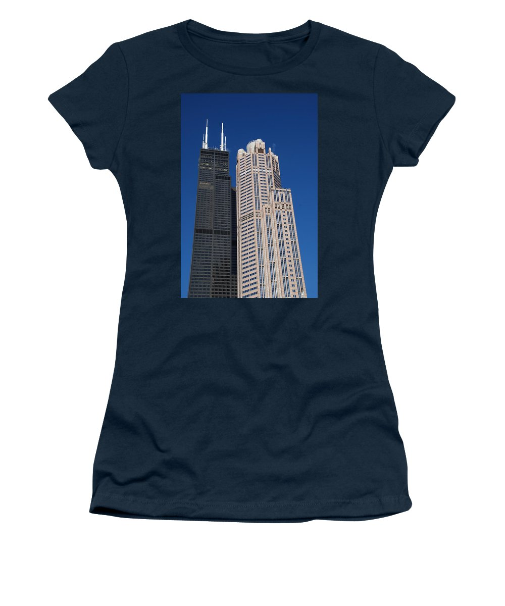 Willis Women's T-Shirt featuring the photograph Willis Tower Chicago by Richard Bryce and Family