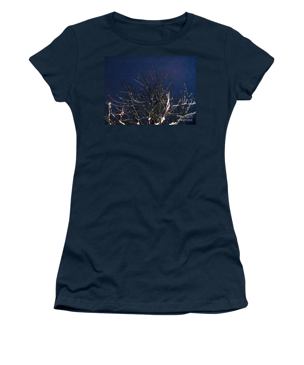 Winter Women's T-Shirt featuring the photograph Winter Treetop by Alys Caviness-Gober