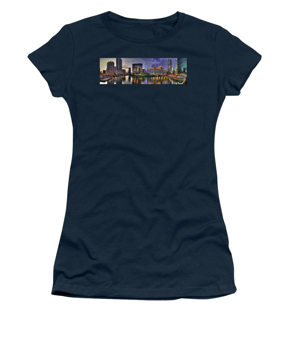 Sks Women's T-Shirt (Athletic Fit) featuring the photograph Wolf Point Panorama by Steven K Sembach