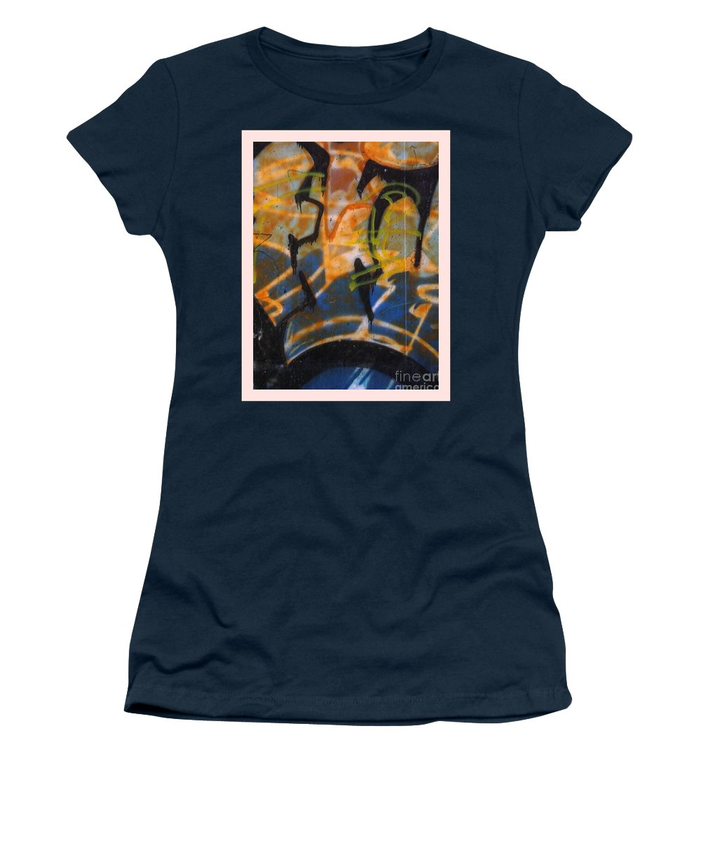 Wall Women's T-Shirt featuring the photograph Writing On The Wall 3 by Sara Raber
