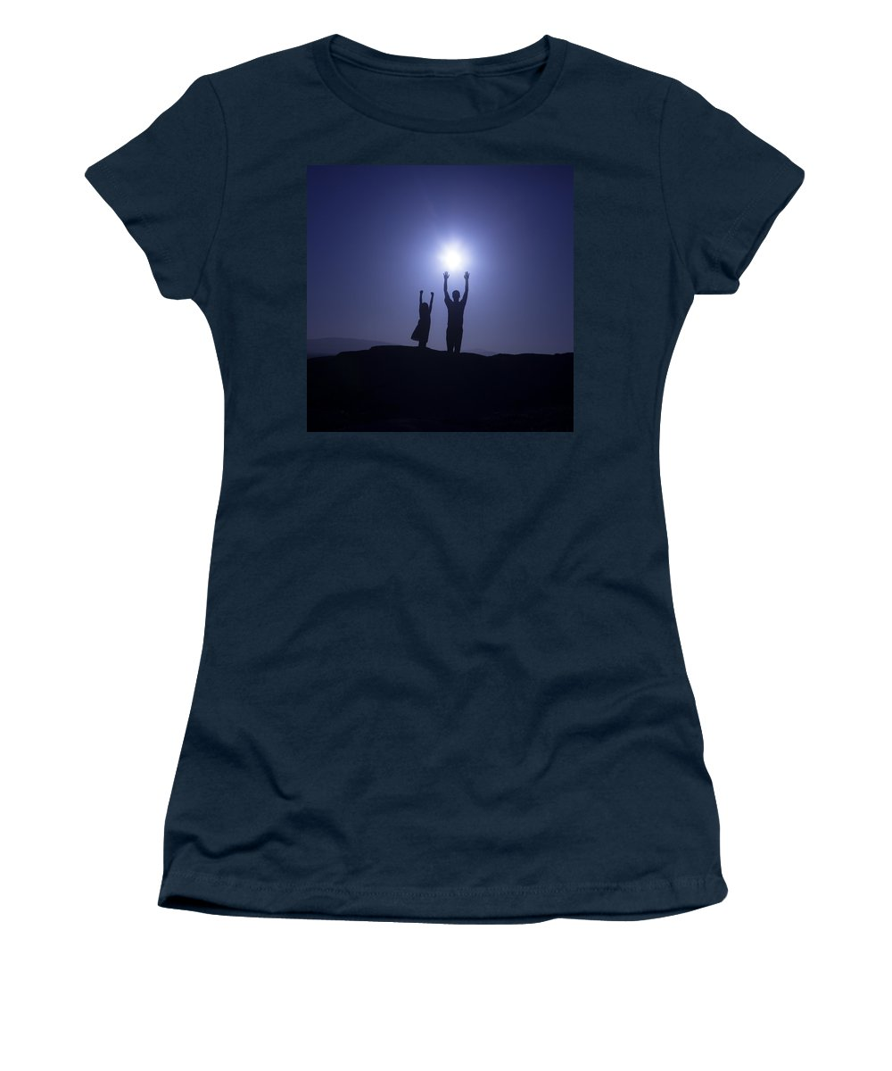 Two Women's T-Shirt featuring the photograph Father And Daughter by Joana Kruse