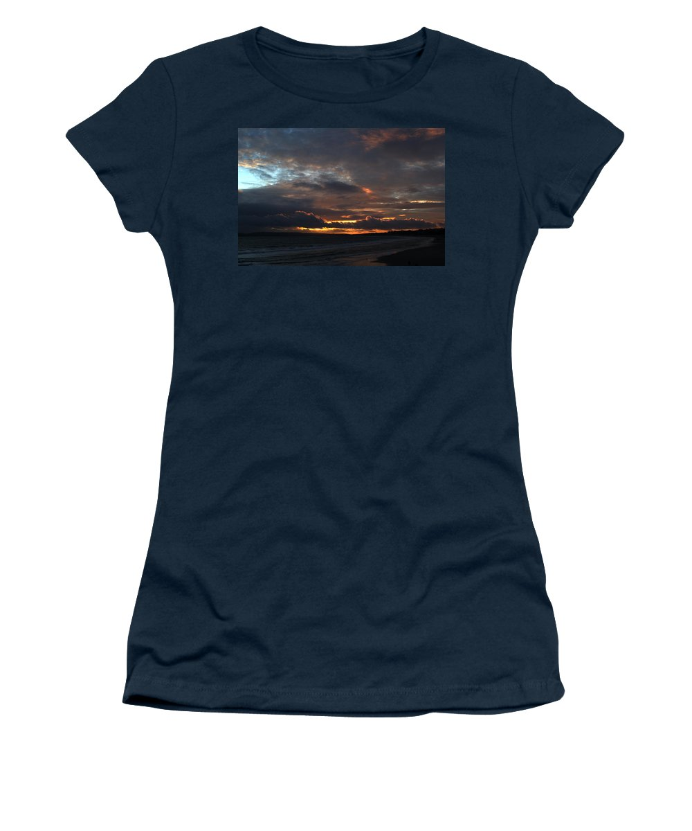 Sunset Women's T-Shirt featuring the photograph Bournemouth Sunset by Chris Day