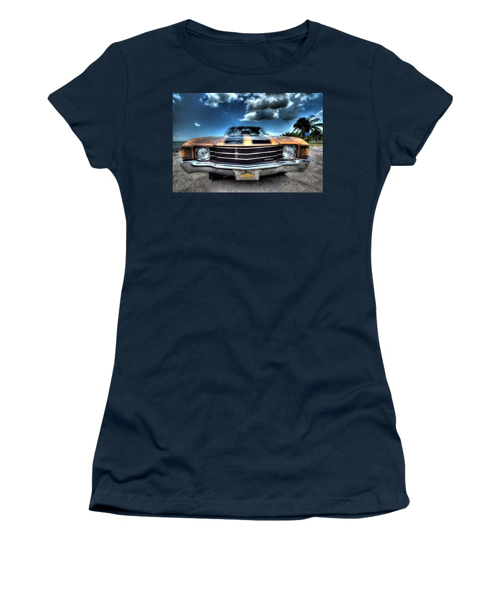 1972 Women's T-Shirt featuring the photograph 1972 Chevelle by David Morefield
