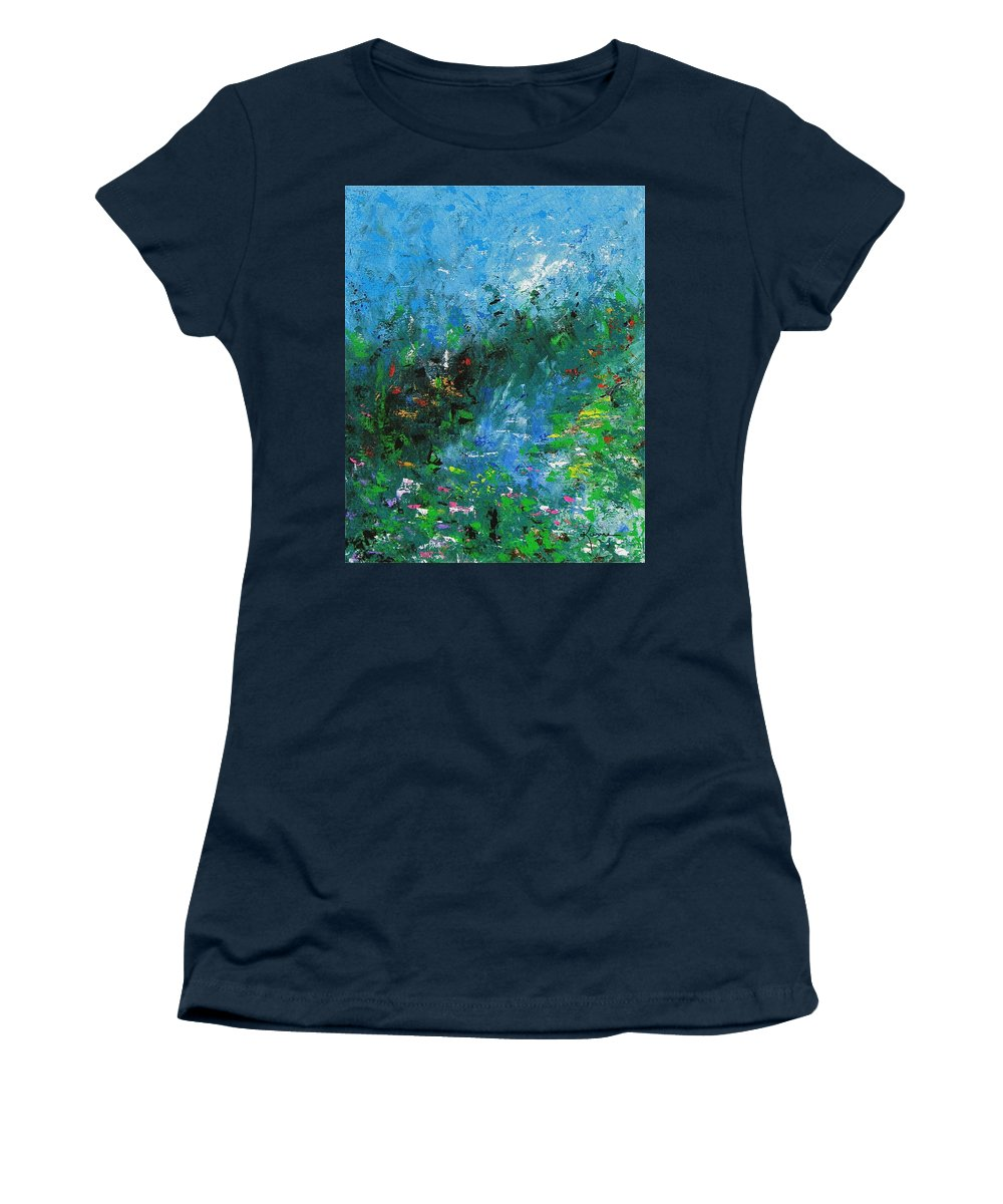 Spring Women's T-Shirt featuring the painting Spring by Kume Bryant
