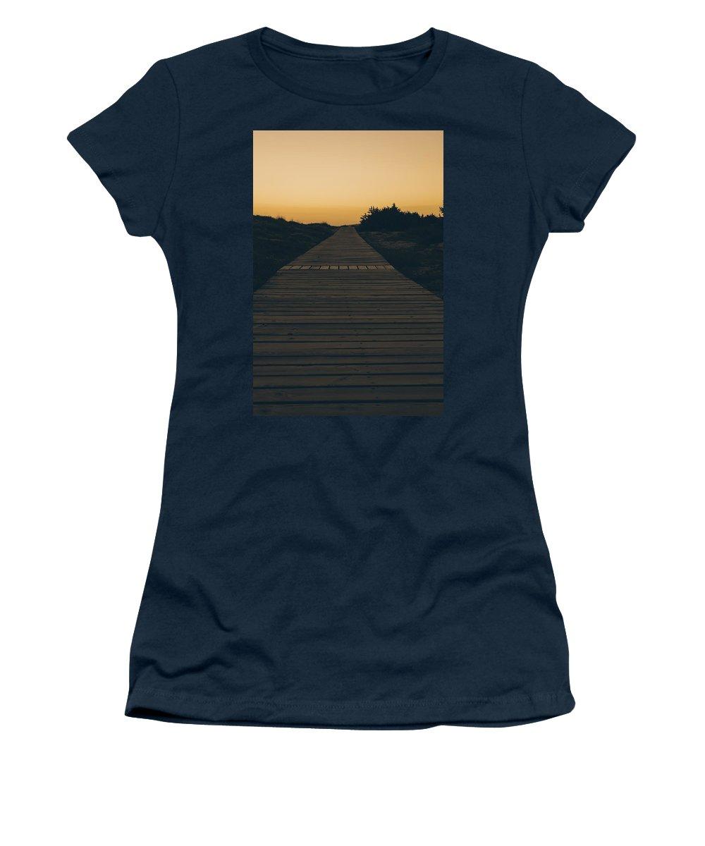 Boardwalk Women's T-Shirt featuring the photograph Boardwalk by Joana Kruse