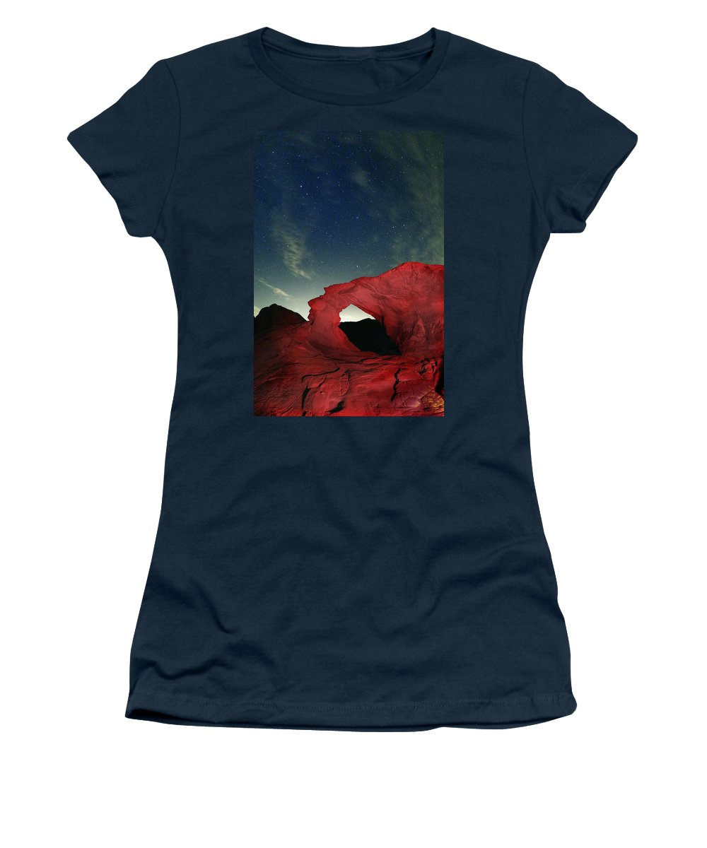 Stars Women's T-Shirt featuring the photograph Arch And Stars by Rick Berk