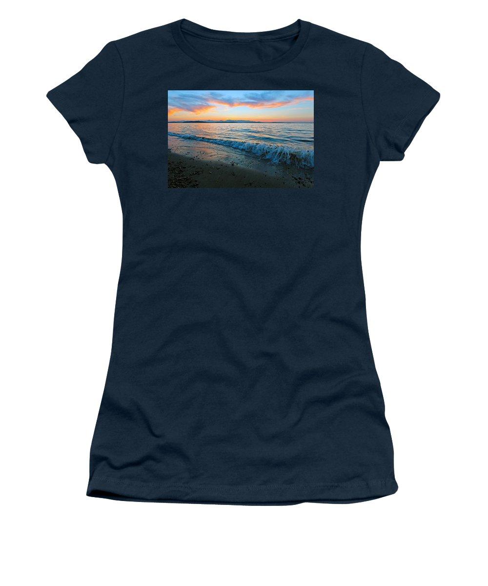 Landscape Women's T-Shirt featuring the photograph Beach Sunset by Paul Fell