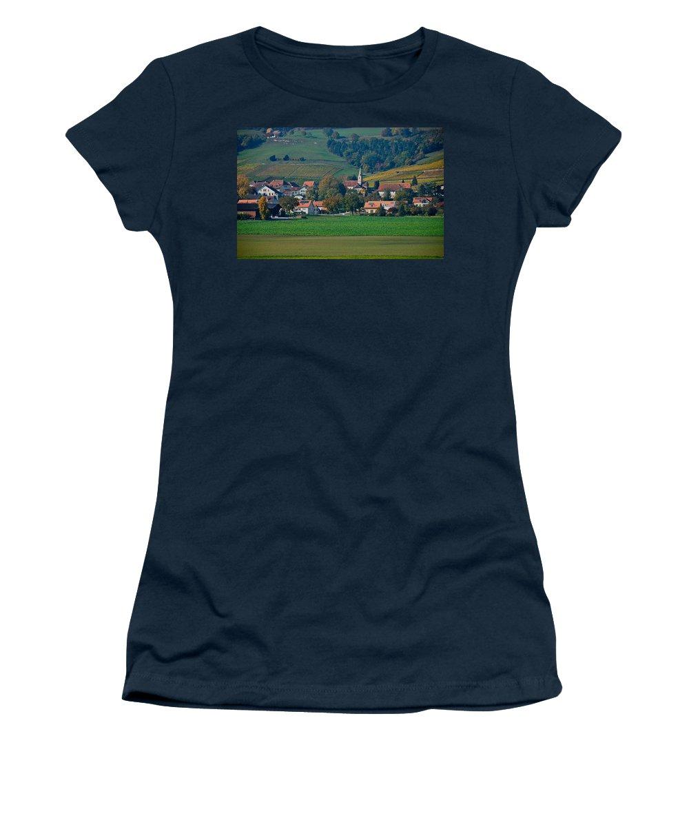 Timeless Women's T-Shirt featuring the photograph Bonvillars by Eric Tressler
