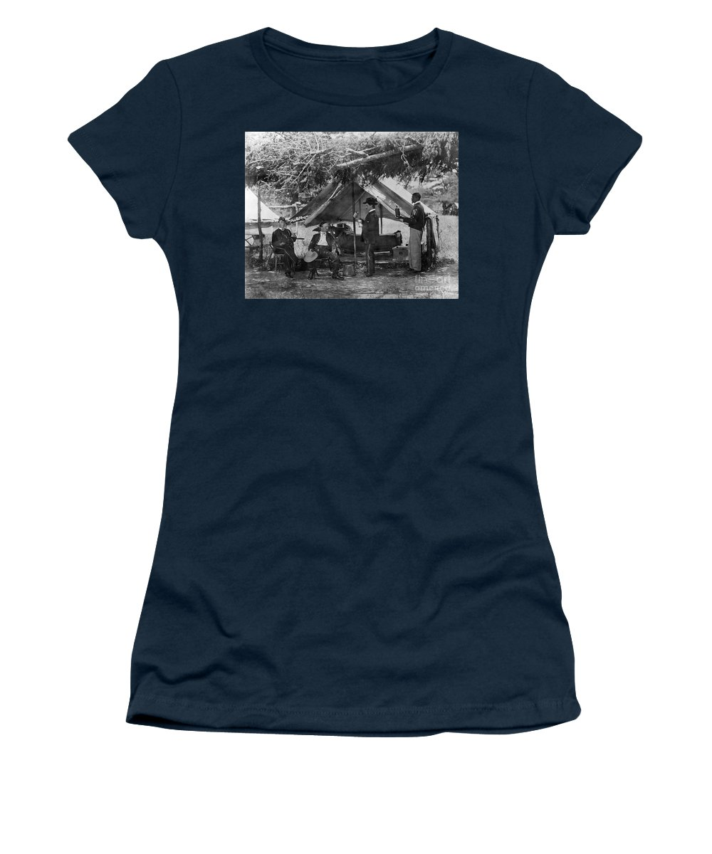 1865 Women's T-Shirt featuring the photograph Civil War: Union Camp by Granger
