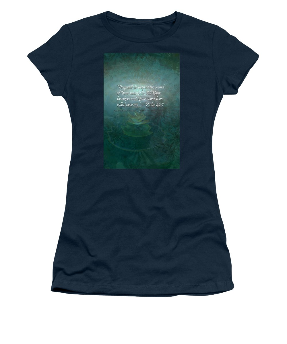 Deep Women's T-Shirt featuring the painting Deep Calls To Deep by Christopher Gaston