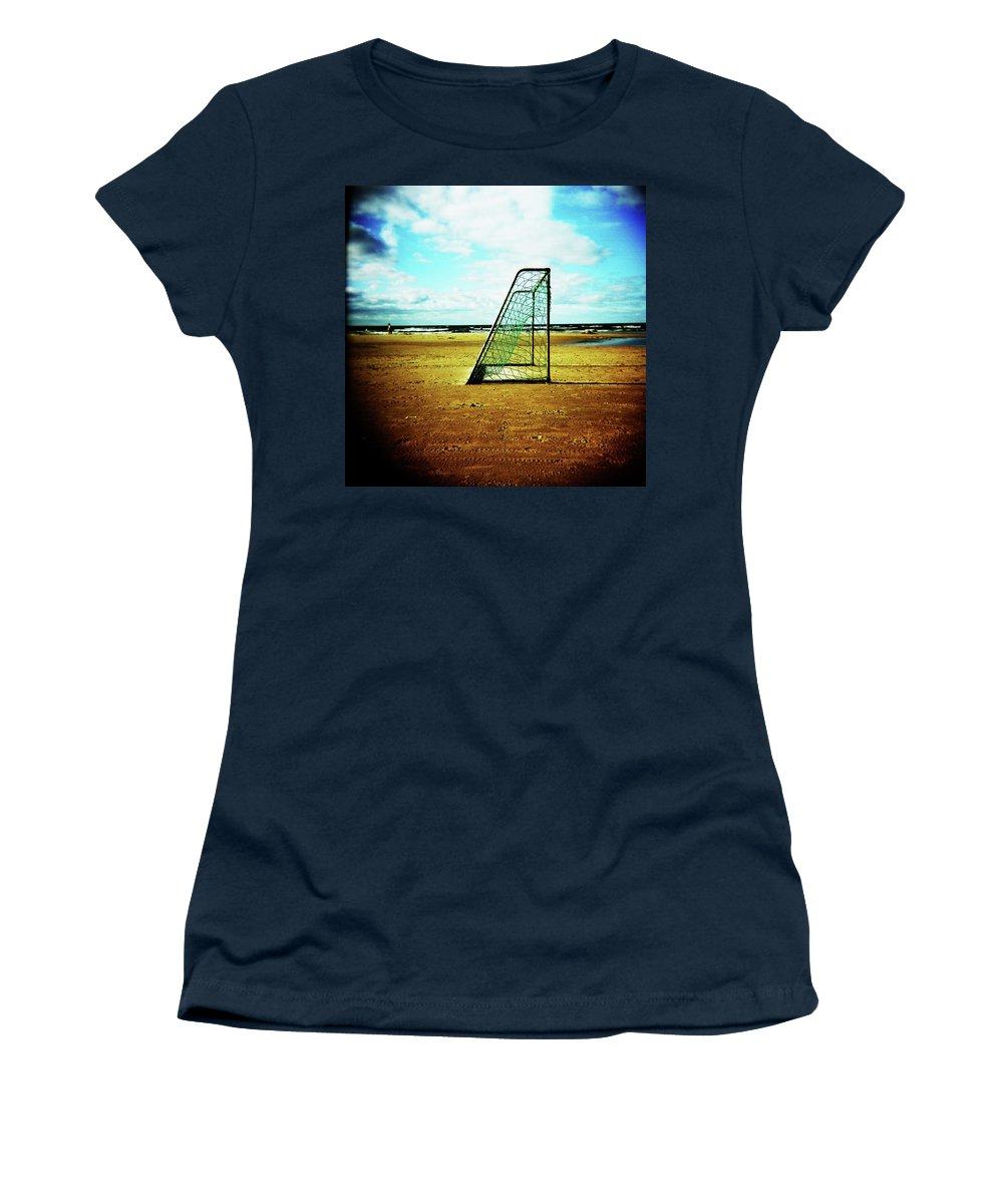 Holga Women's T-Shirt featuring the photograph Goal by Olivier De Rycke