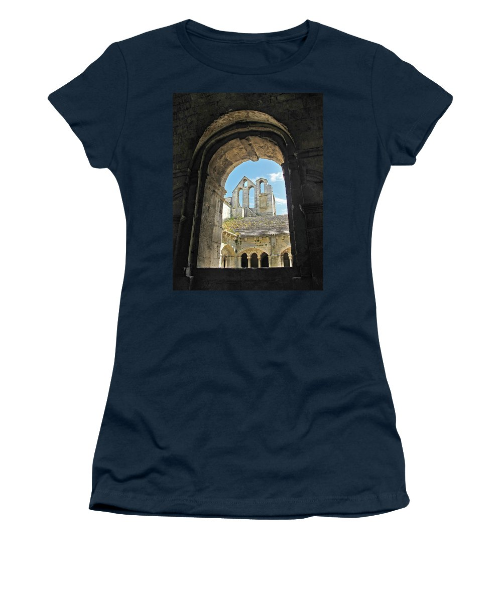 Monastery Women's T-Shirt featuring the photograph In A Monastery by Dave Mills