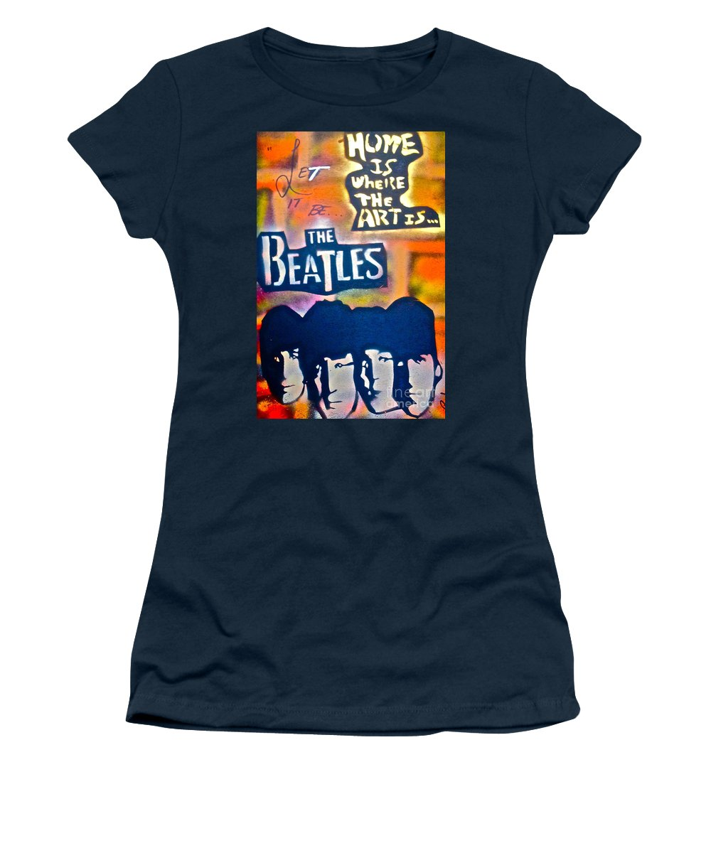 Graffiti Women's T-Shirt featuring the painting Let It Be by Tony B Conscious