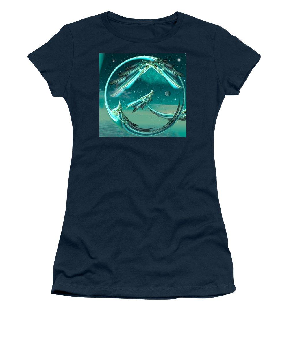 Magic Women's T-Shirt featuring the digital art Magical Eve by Phil Sadler