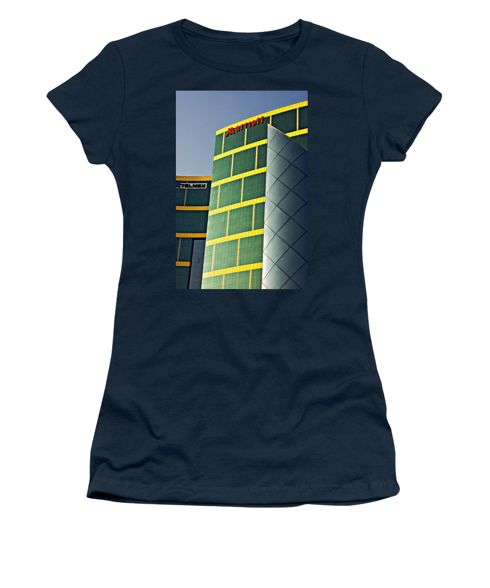 Reflection Women's T-Shirt featuring the photograph Marriott by Steve Harrington