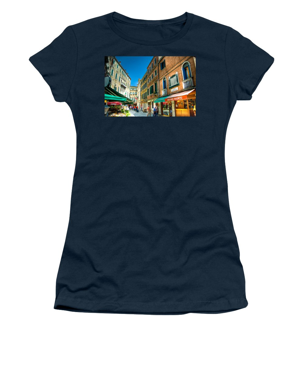 Venice Women's T-Shirt featuring the photograph Streets Of Venice by Jon Berghoff
