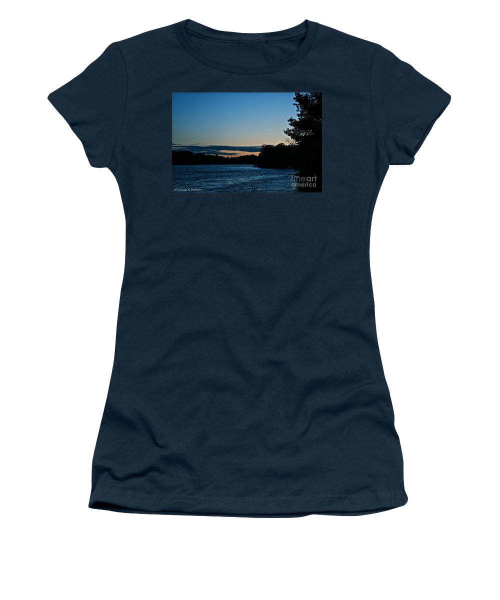 Minnesota Women's T-Shirt (Athletic Fit) featuring the photograph Summer Sundown by Susan Herber