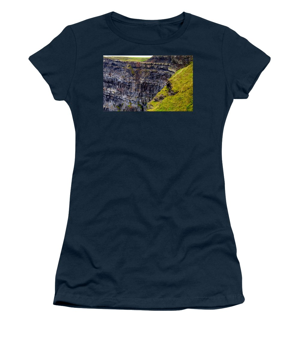 Ireland Women's T-Shirt featuring the photograph The Cliffs Of Moher by David Resnikoff
