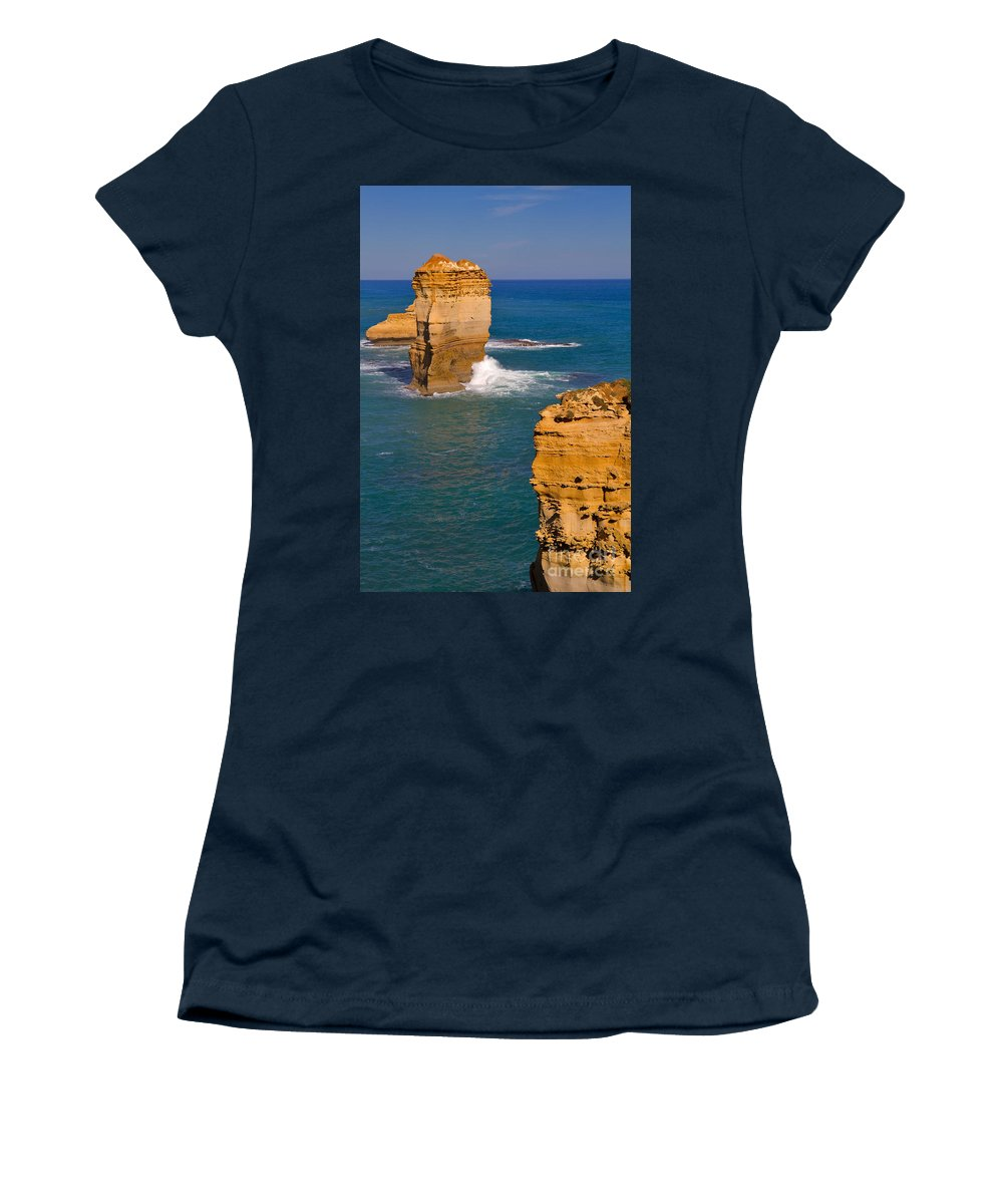 Twelve Apostles Women's T-Shirt featuring the photograph The Twelve Apostles In Port Campbell National Park Australia by Louise Heusinkveld
