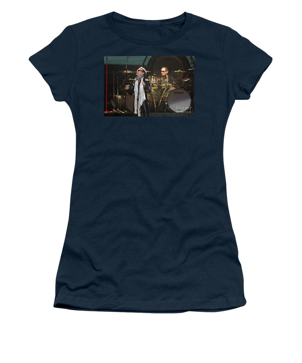 Van Halen Women's T-Shirt (Athletic Fit) featuring the photograph Van Halen-7072 by Gary Gingrich Galleries