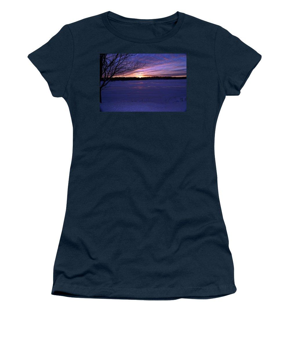 Winter Women's T-Shirt featuring the photograph Winter Sunset IIi by Joe Faherty