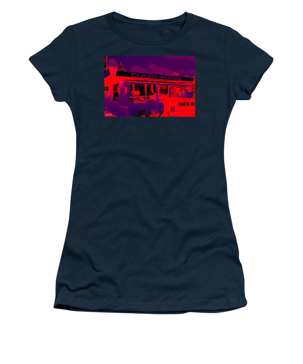 A Fallen King Women's T-Shirt (Athletic Fit) featuring the photograph A Fallen King by Ed Smith