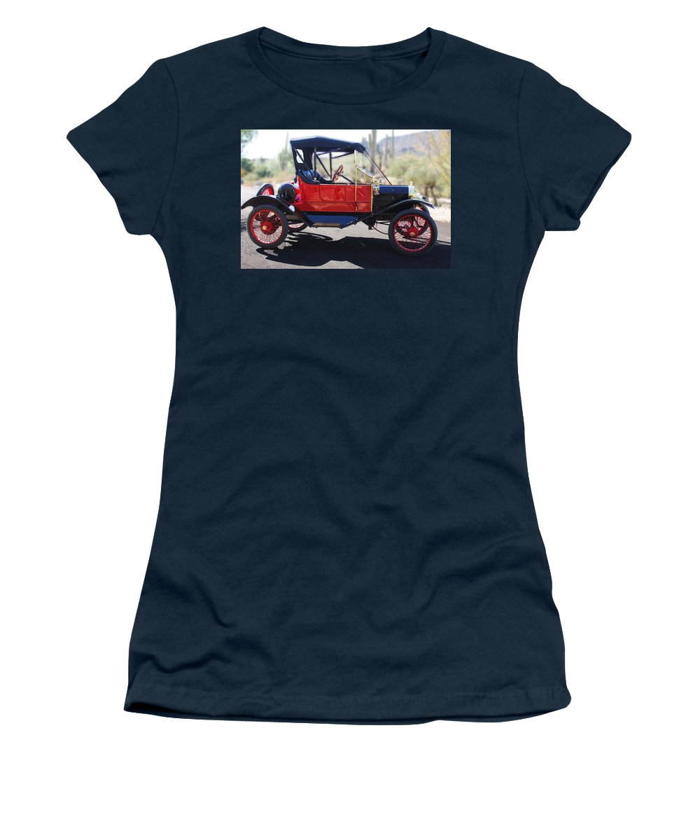 Horseless Carriage Women's T-Shirt featuring the photograph 1911 Ford Model T Torpedo by Jill Reger