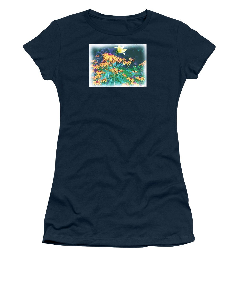 Mixed Media Women's T-Shirt featuring the painting A Lily in the Field by Patricia Griffin Brett