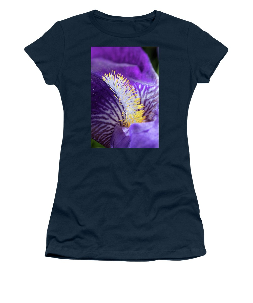 Bearded Iris Women's T-Shirt (Athletic Fit) featuring the photograph Bearded Iris by Bernard Lynch