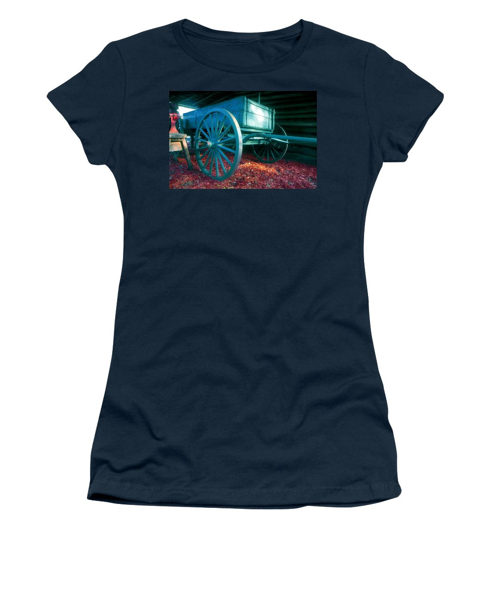 Blue Women's T-Shirt featuring the photograph Blue Wagon by David Lee Thompson
