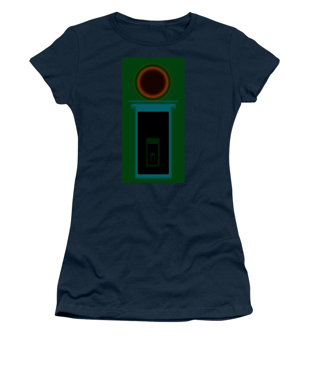 Palladian Women's T-Shirt featuring the painting Palladian Green by Charles Stuart