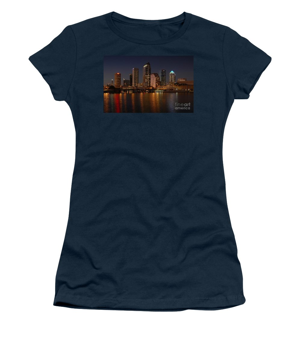 Tampa Women's T-Shirt (Athletic Fit) featuring the photograph Tampa Florida by David Lee Thompson