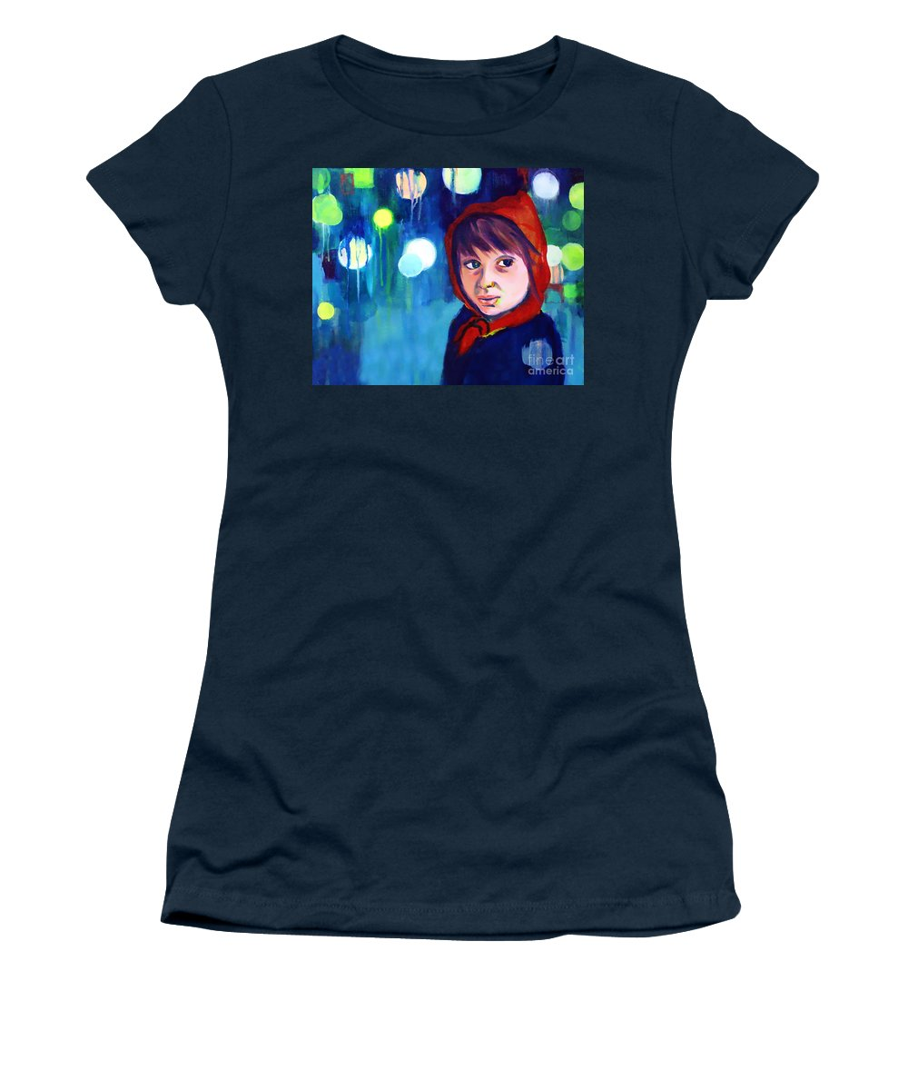 Mysterious Women's T-Shirt featuring the painting The Miracle by Angelique Bowman