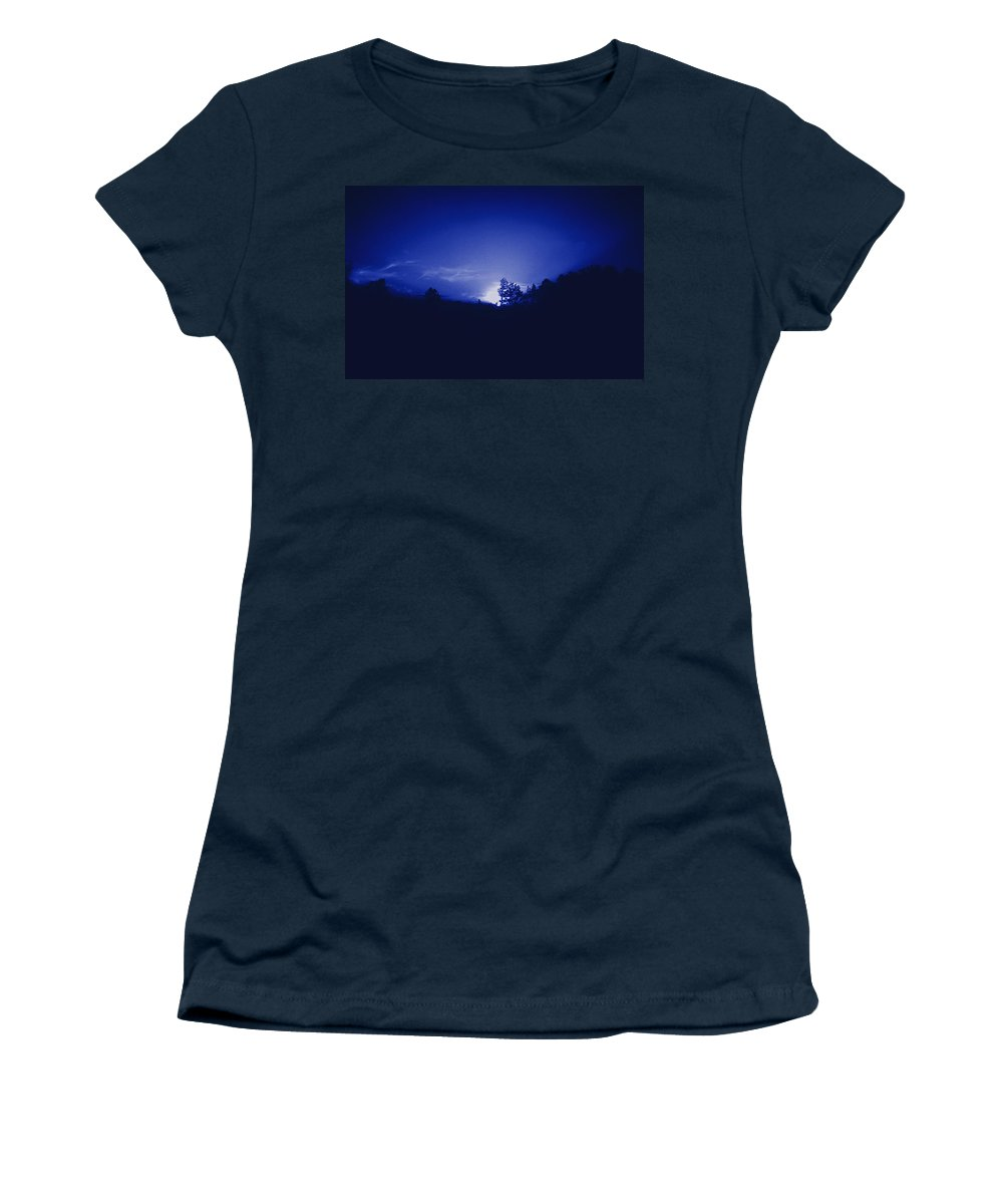 Sky Women's T-Shirt (Athletic Fit) featuring the photograph Where The Smurfs Live 2 by Max Mullins