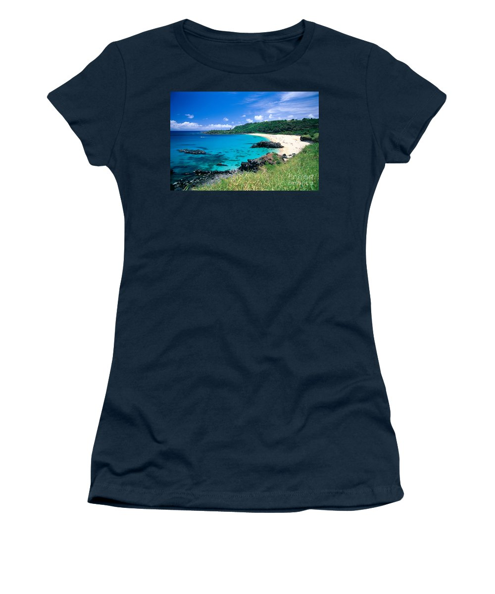 Afternoon Women's T-Shirt featuring the photograph Waimea Bay by Mary Van de Ven - Printscapes