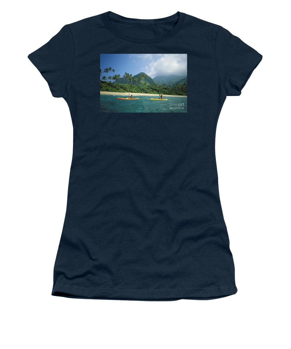 Afternoon Women's T-Shirt featuring the photograph Fiji, Kadavu Island by Ron Dahlquist - Printscapes