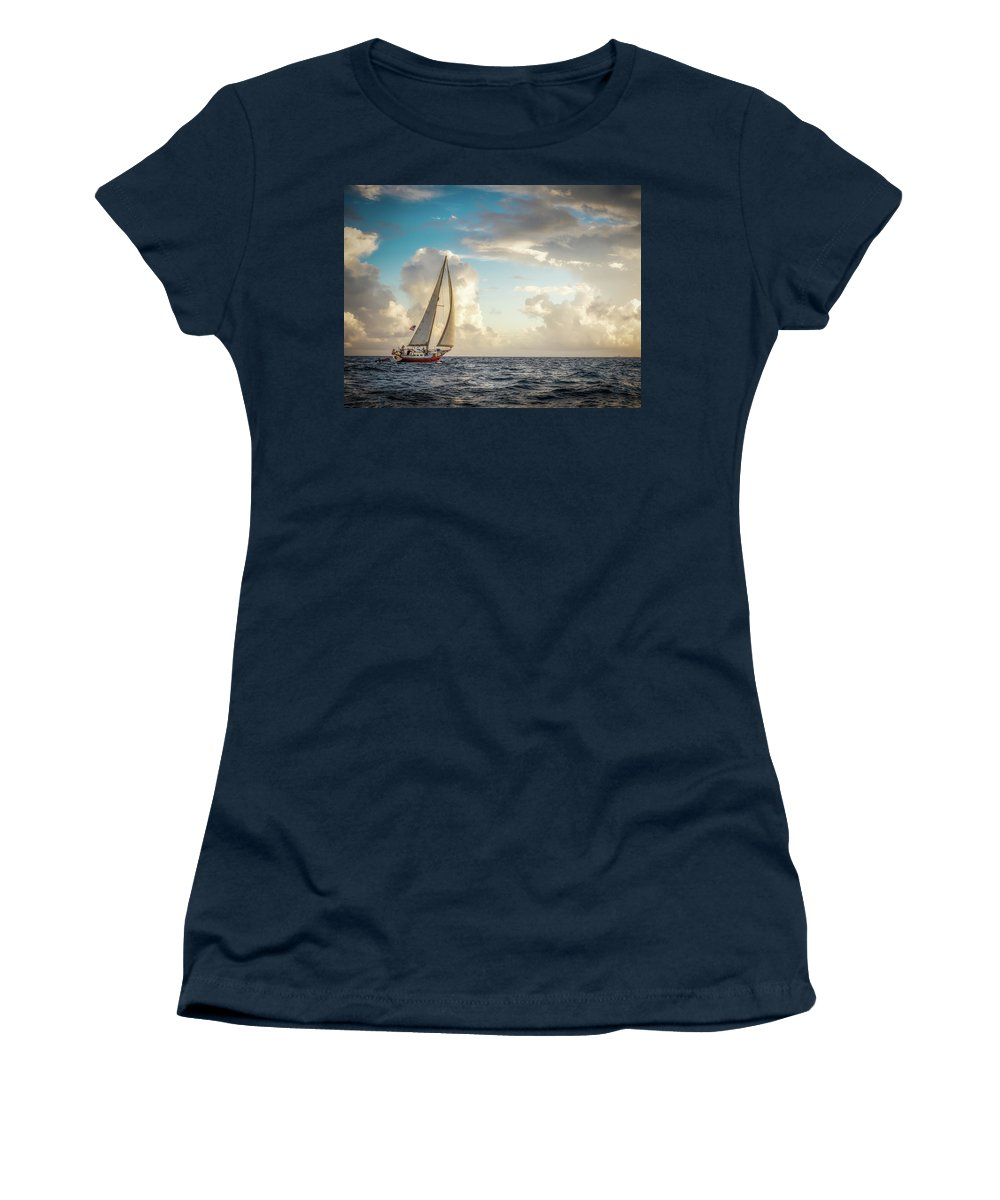 Beautiful Women's T-Shirt featuring the photograph A Life At Sea by Michael Tigue