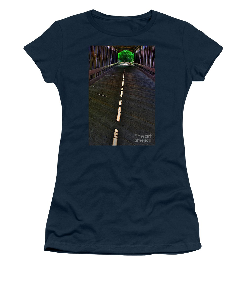 Light Women's T-Shirt (Athletic Fit) featuring the photograph A Path Of Light by Robert Pearson