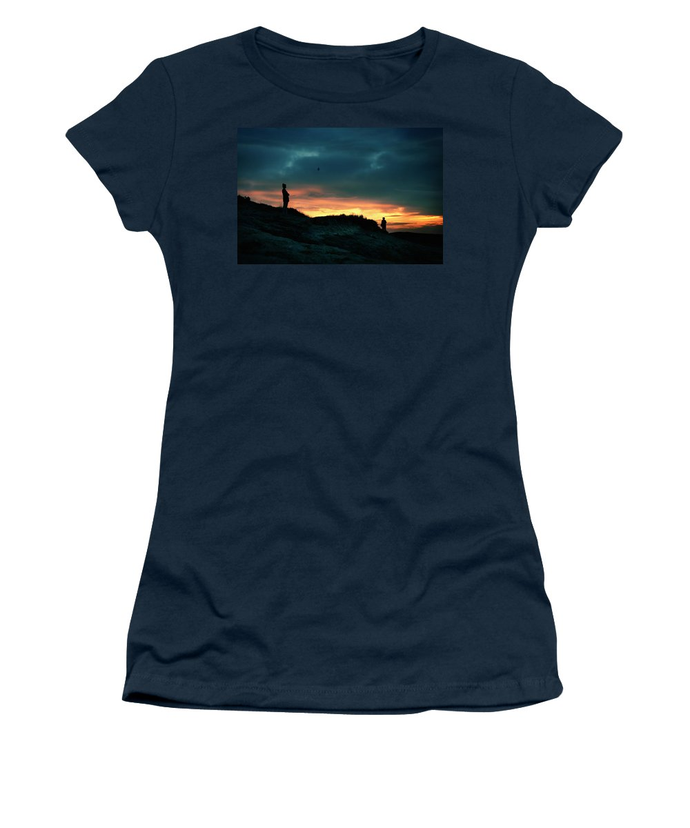 Silhouettes Women's T-Shirt (Athletic Fit) featuring the photograph A Sense Of Loss by Zapista