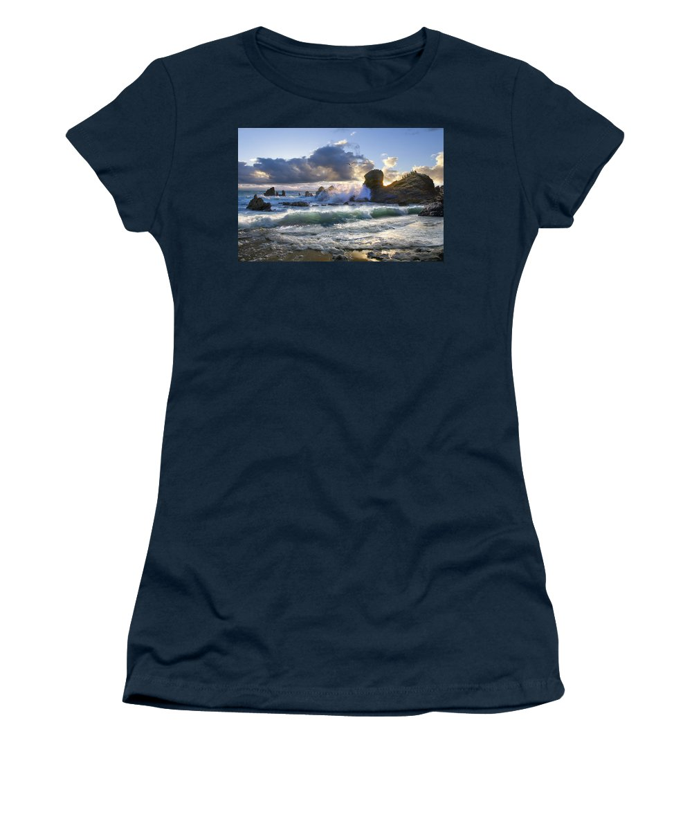 Ocean Women's T-Shirt featuring the photograph A Whisper In The Wind by Acropolis De Versailles
